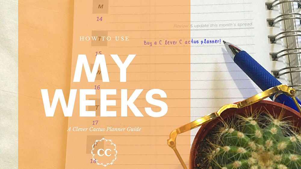 My Weeks Guide - Clever Cactus Planner
