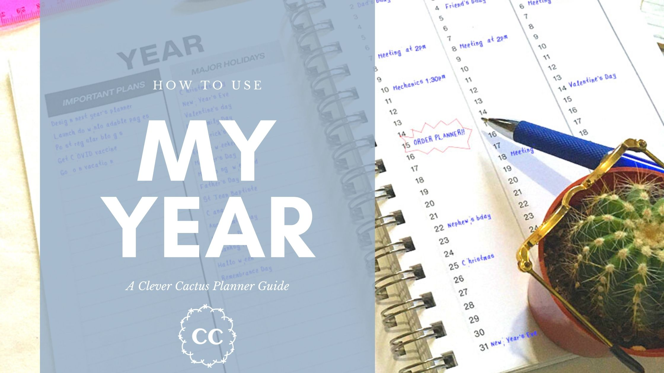 My Year Guide Clever Cactus planner