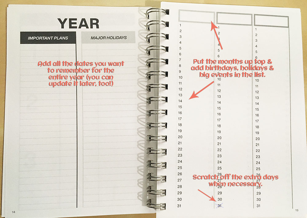 Clever Cactus planner - My Year guide - Year