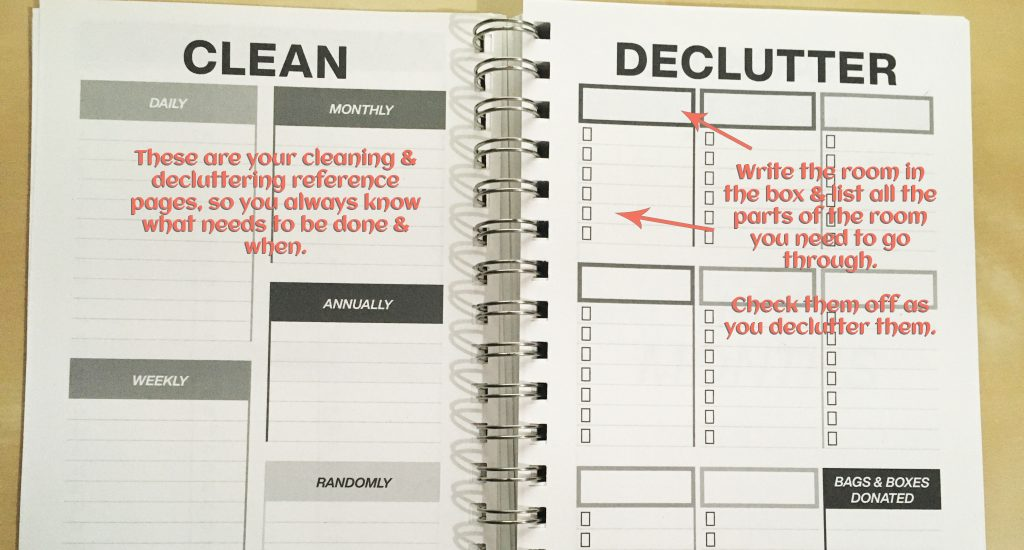 Clever Cactus planner - My Year guide - Clean & Declutter