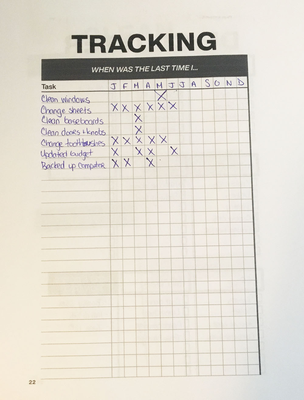 My Months Guide Clever Cactus Planner - Page 22 Tracking