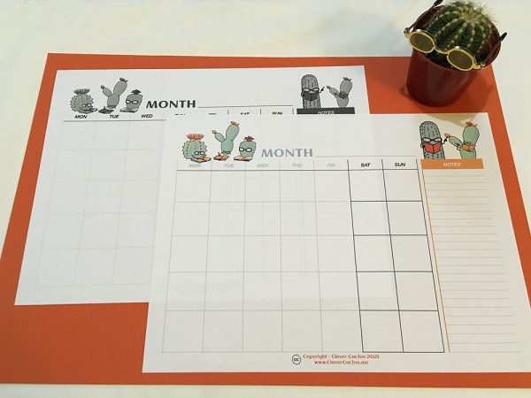 Clever Cactus Calendar both glamour