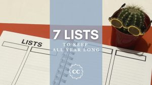 7 lists you should be making