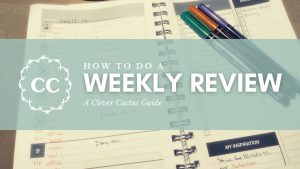 Weekly Review Clever Cactus How To Guide